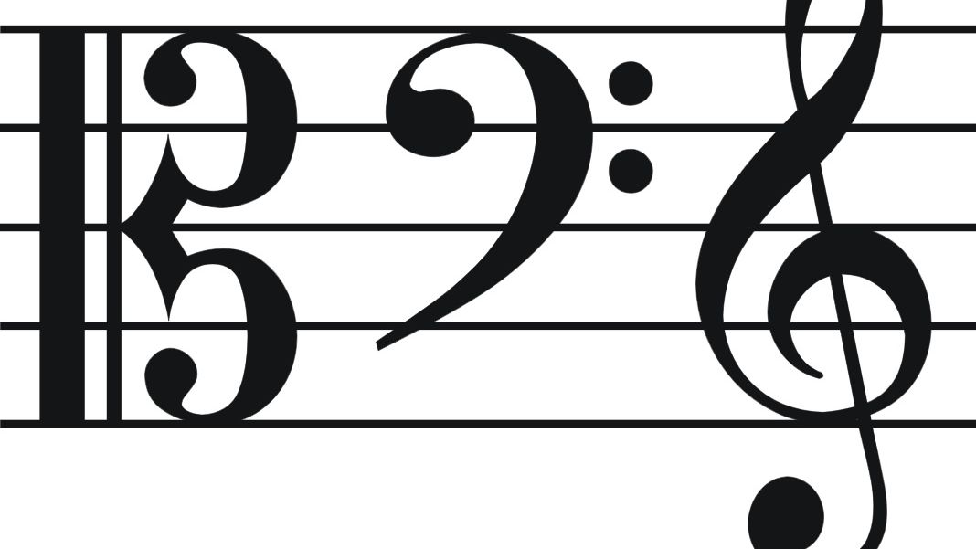 Alto clef. Common clefs often
