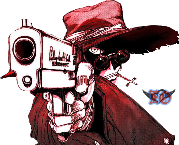 Alucard drawing dog. Added by wobey
