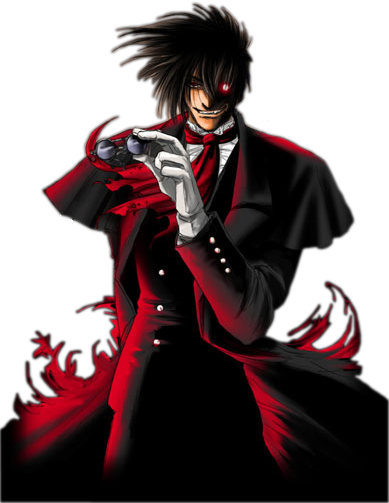 Alucard drawing anime badass. From hellsing ultimate name