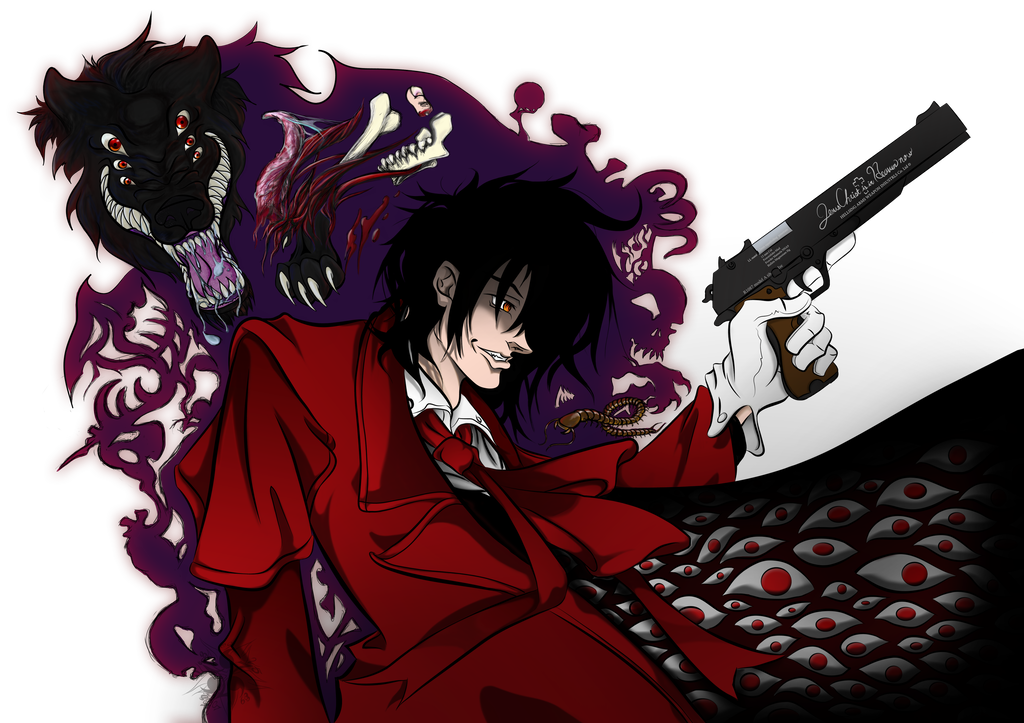 Alucard drawing hair. And baskerville by hisuikaihane