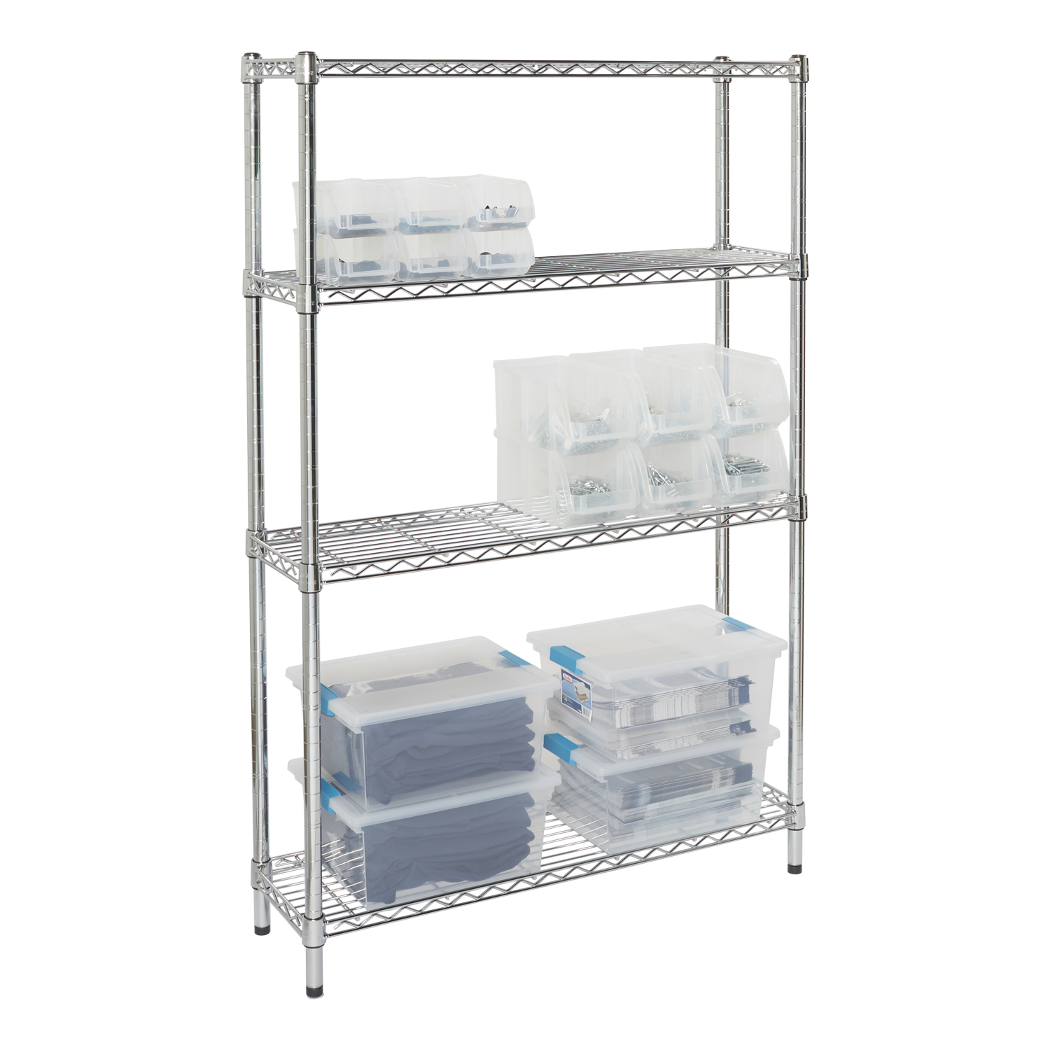 Aluminum clip adjustable shelving. Shelves and for home