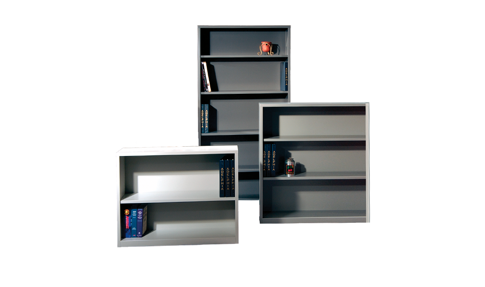 Aluminum clip bookcase shelf. Shelving units our products