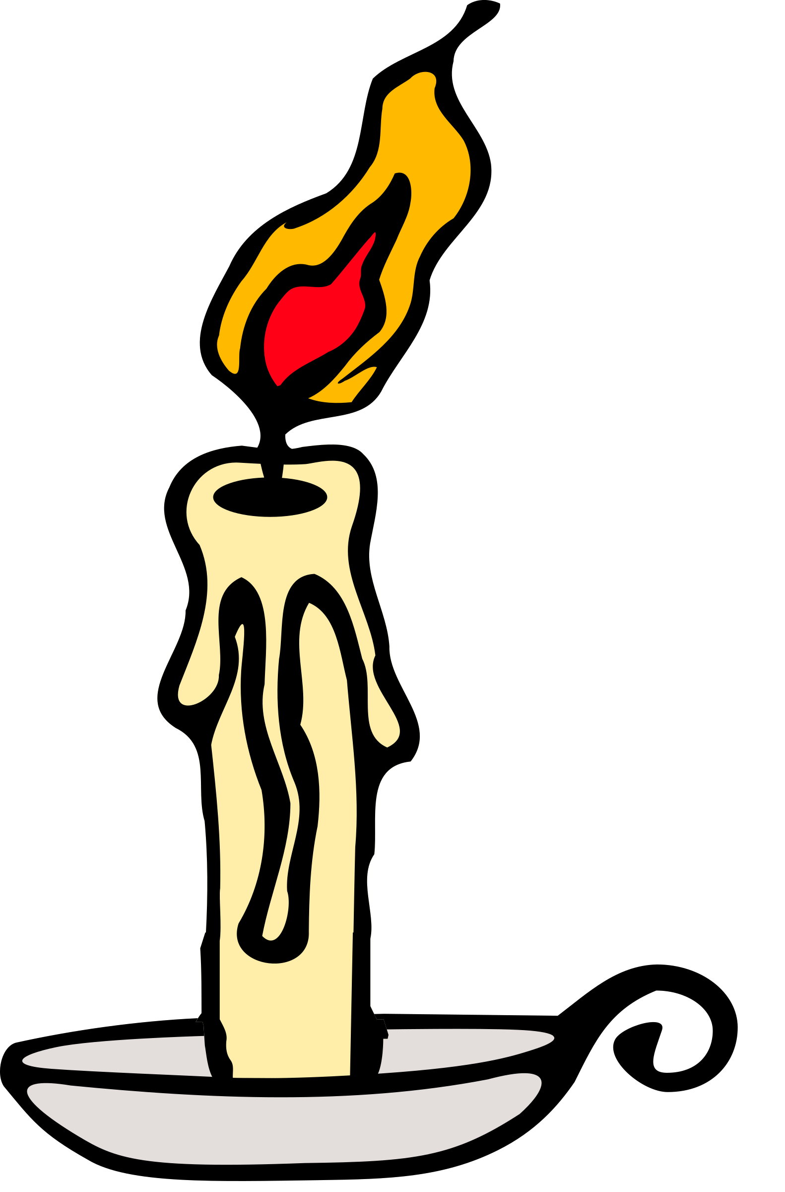 Drawing candle lighted. Burning bush clipart at