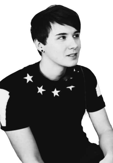 Amazingphil transparent black and white phil dan. Image about in by