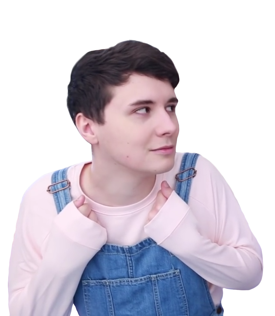 Amazingphil transparent black and white phil dan. Pngs softie