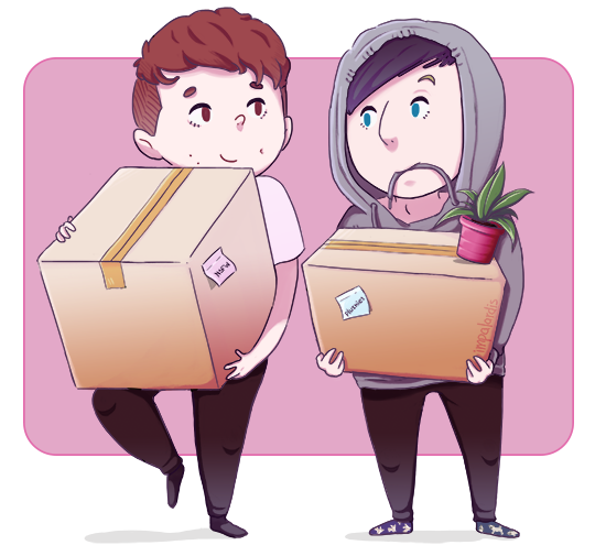 Amazingphil transparent couple. Backin new house same
