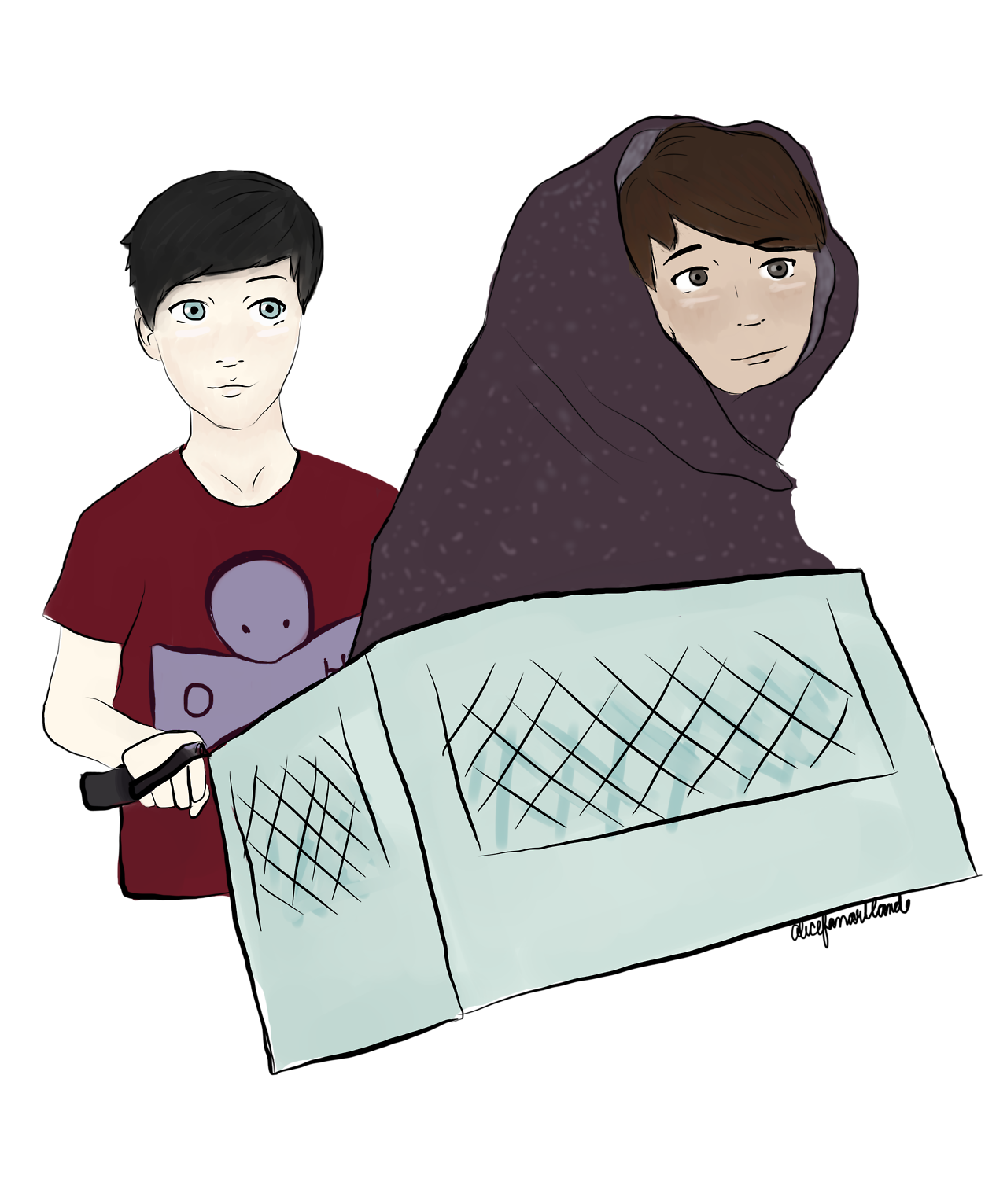 Amazingphil transparent whisker. Inspired by phil s