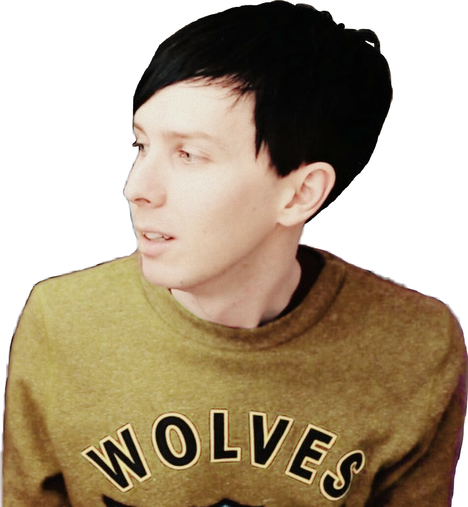 Amazingphil transparent sticker. Phillester danisnotonfire danhowell phan