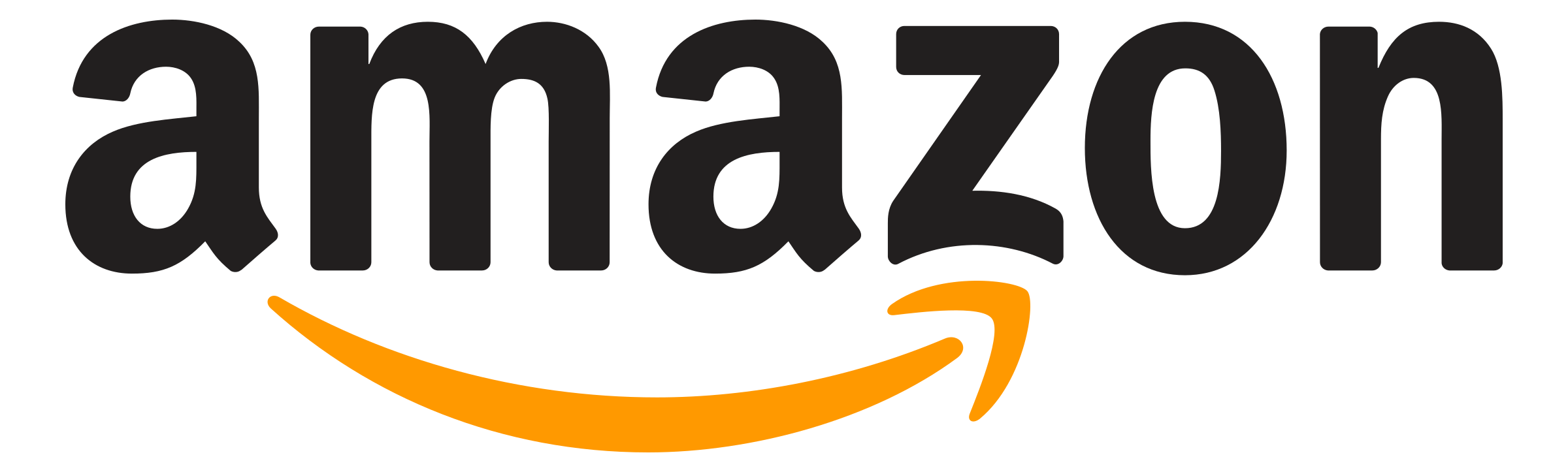 Amazon logo white png transparent