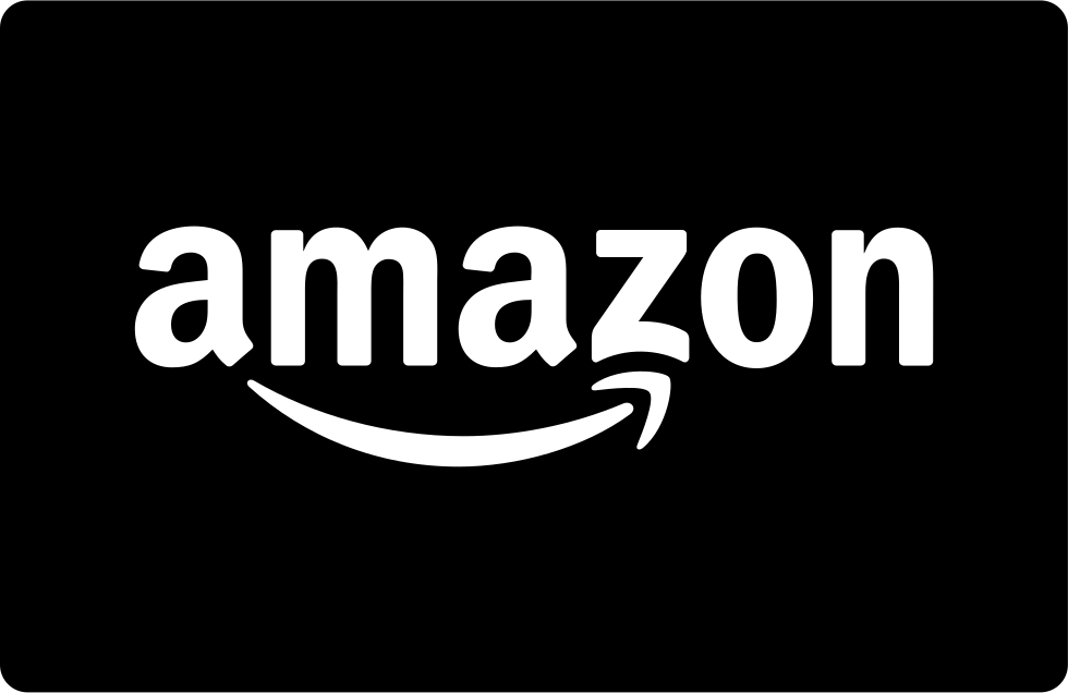 Amazon logo png white. Pay card svg icon