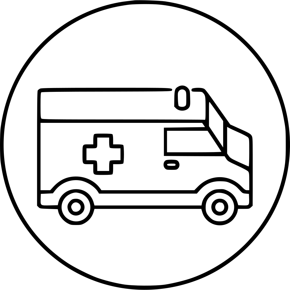 Ambulance bell ring icon png. Medical emergency svg free