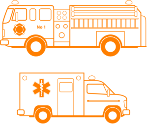 Ambulance clipart fire. Truck and clip art
