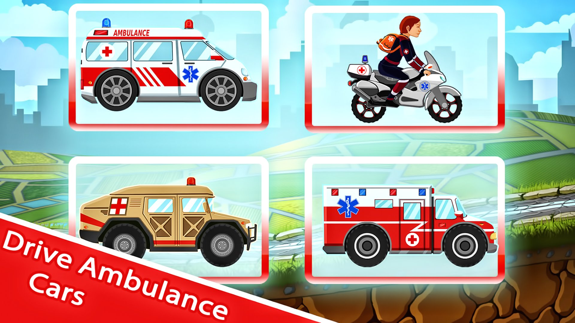 Ambulance clipart race car. Cartoons for kids kid