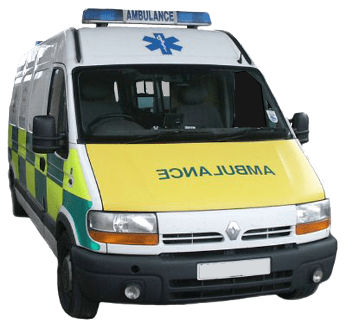 Ambulance transparent. British image