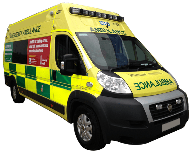 Ambulance transparent. Fiat emergency background