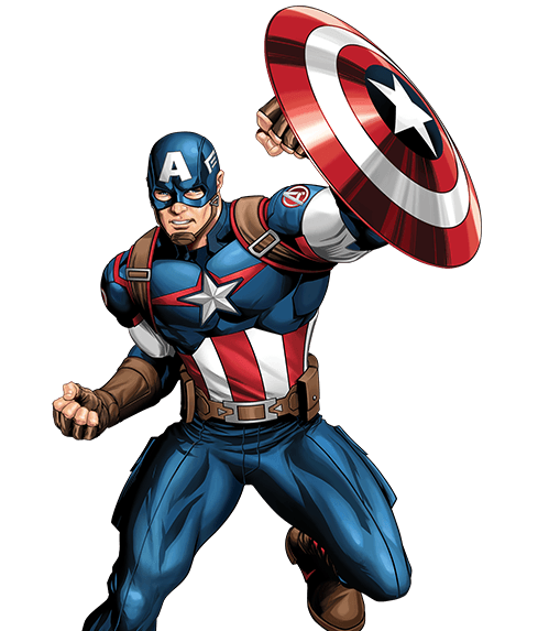 captain america cartoon png