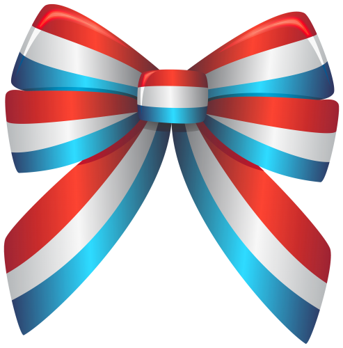 America clipart ribbon. Red white and blue