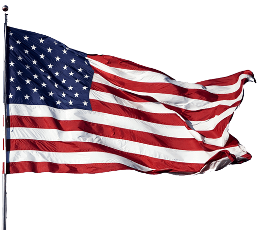 America flag png. Wind american transparent stickpng