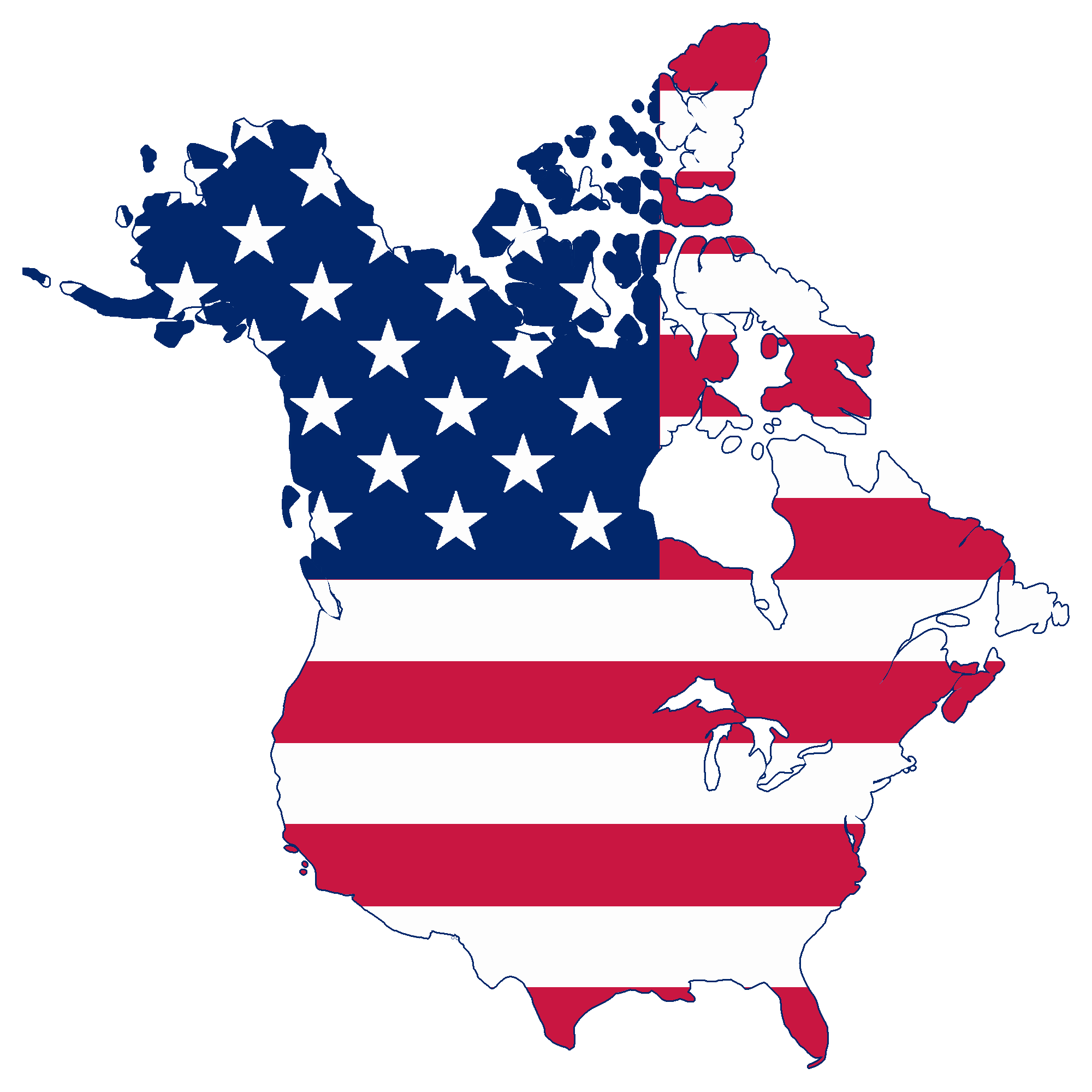 America flag png. File map of canada