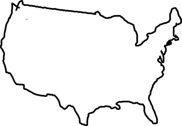 map of usa black and white png