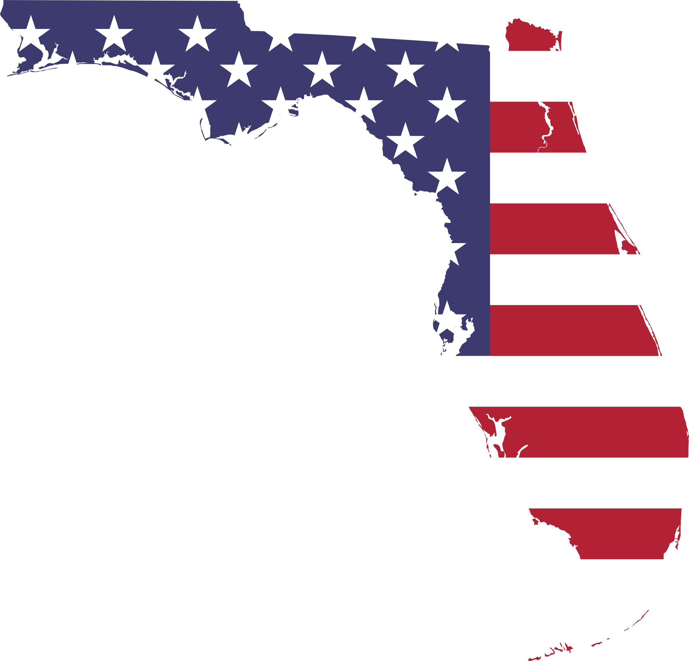 Florida map png. America flag icons free