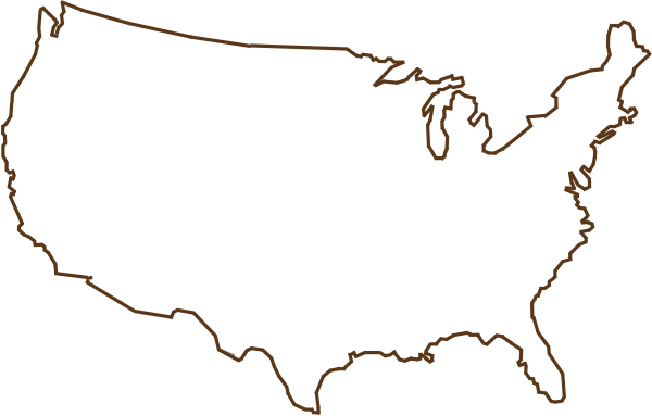outline of united states png