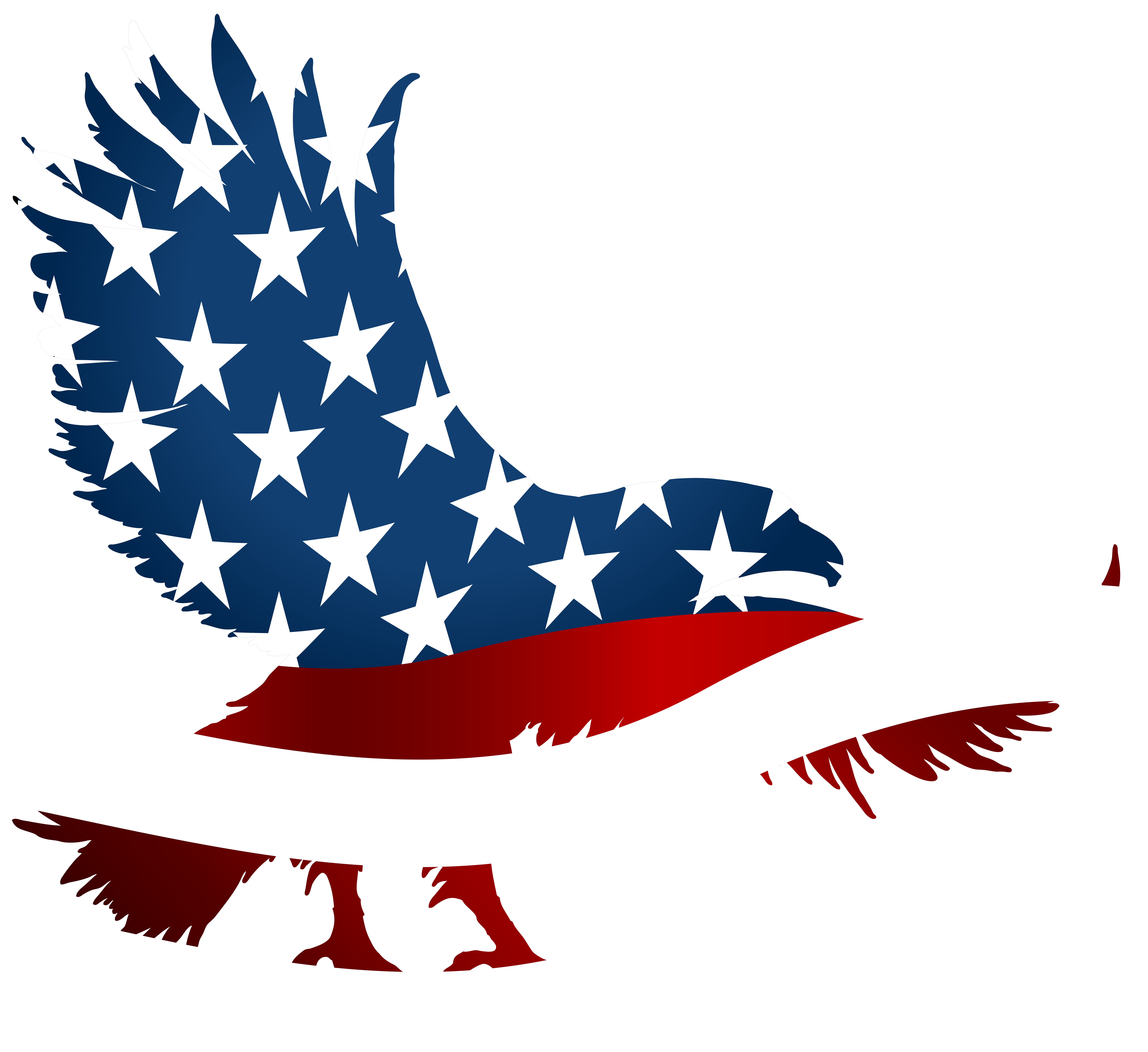 Usa flag transparent png. American eagle clip art
