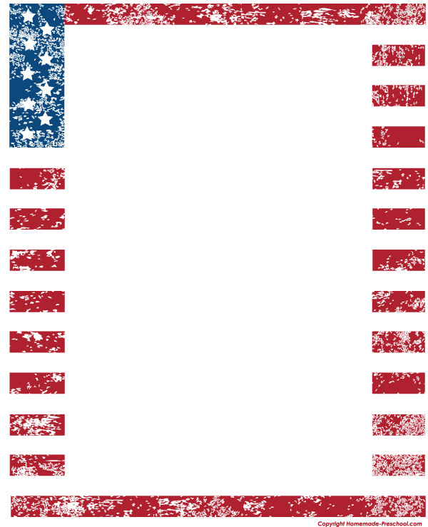American clipart borders. Free flags ready for