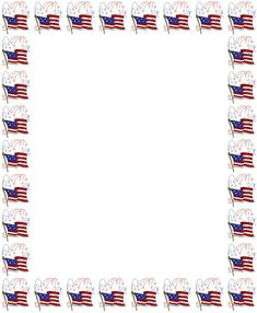 American clipart borders. Th of july coloring