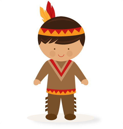 American clipart file. Thanksgiving boy native svg