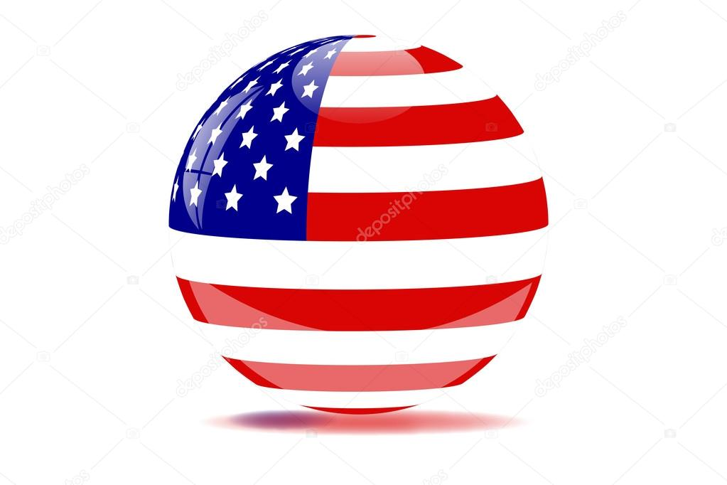 American clipart orb. Usa stock photo nmarques