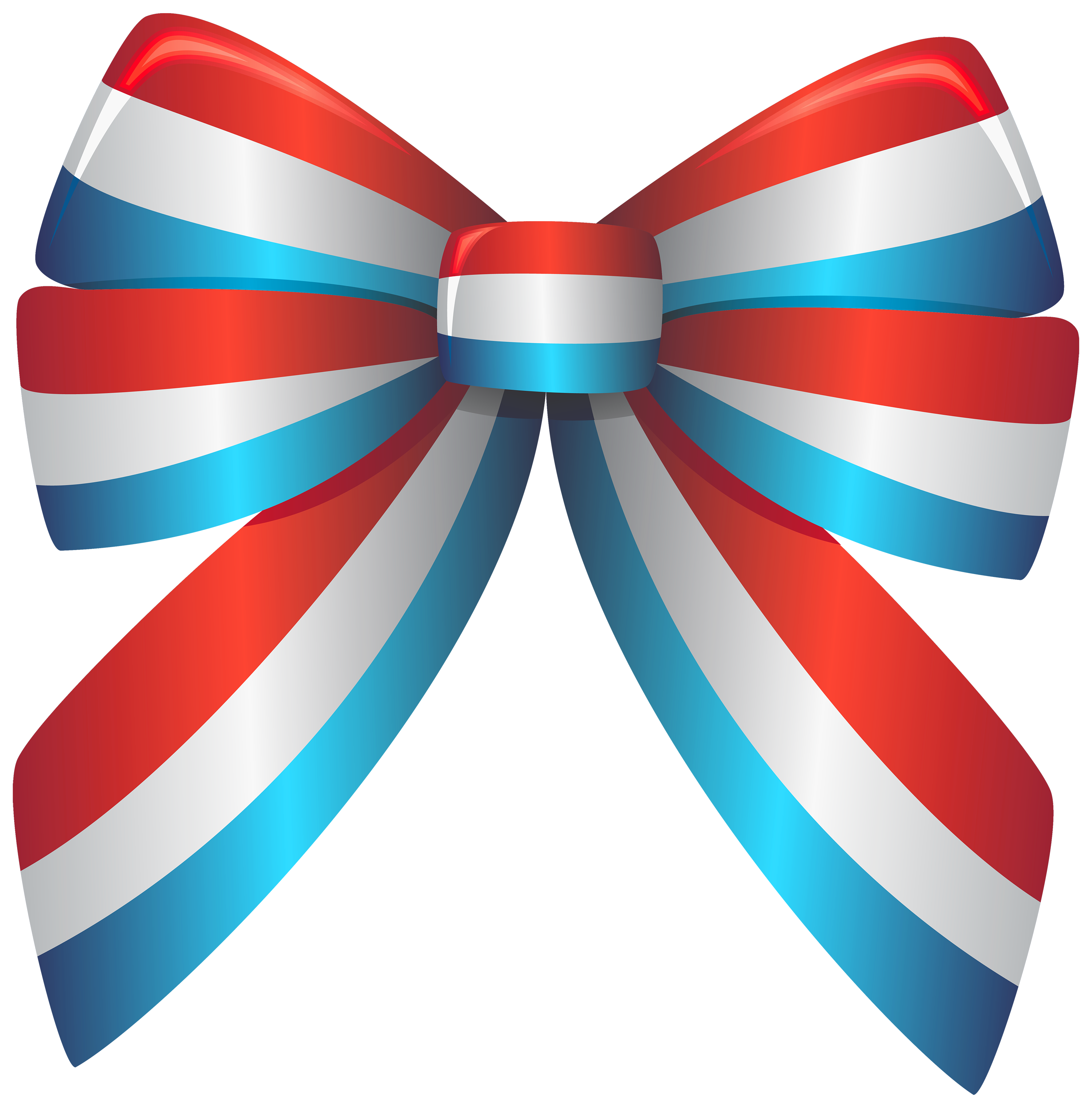 American clipart ribbon. Red white and blue