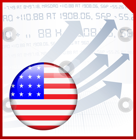 American clipart right state. Abstract background with internet