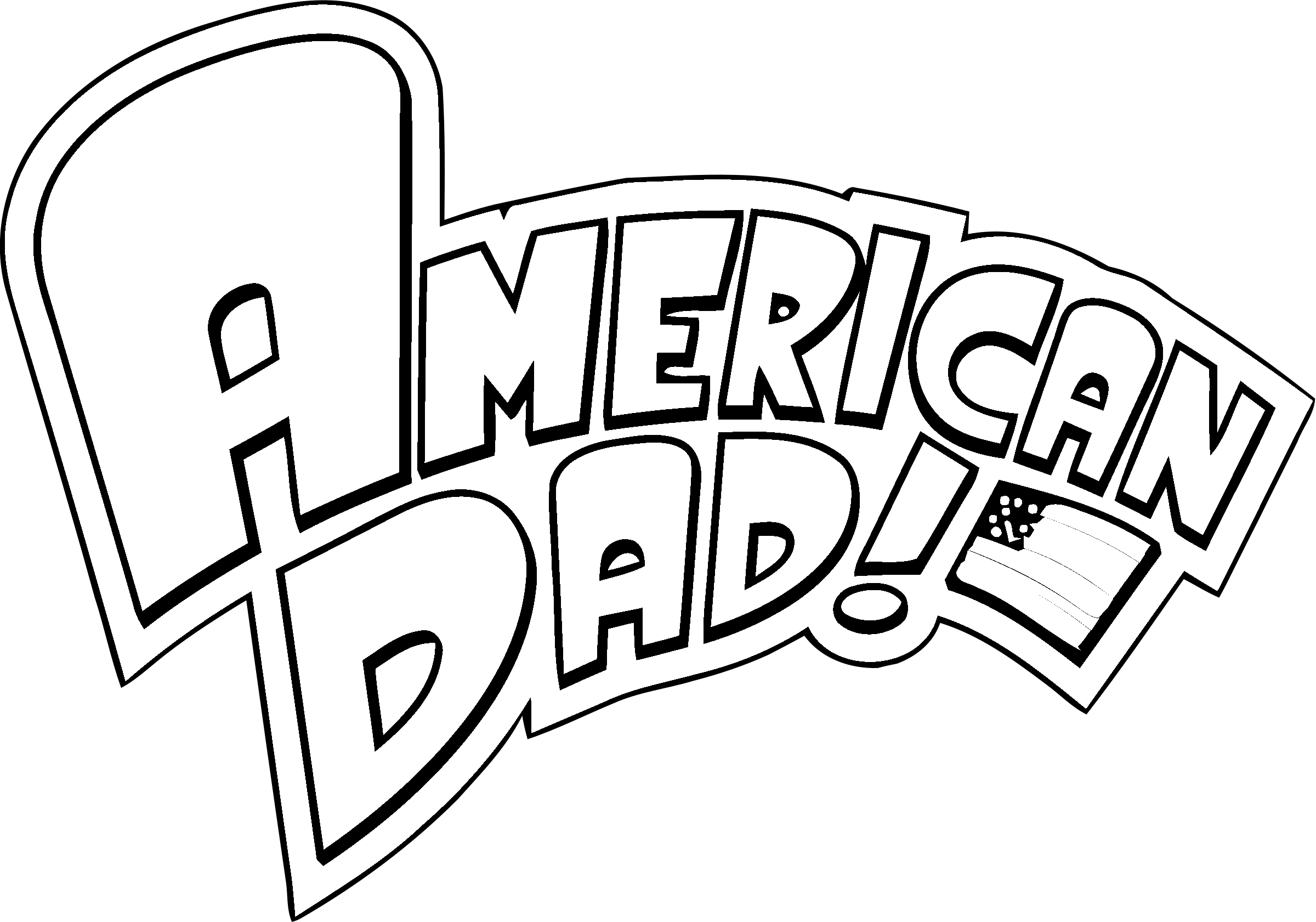 American dad logo png. Transparent svg vector freebie