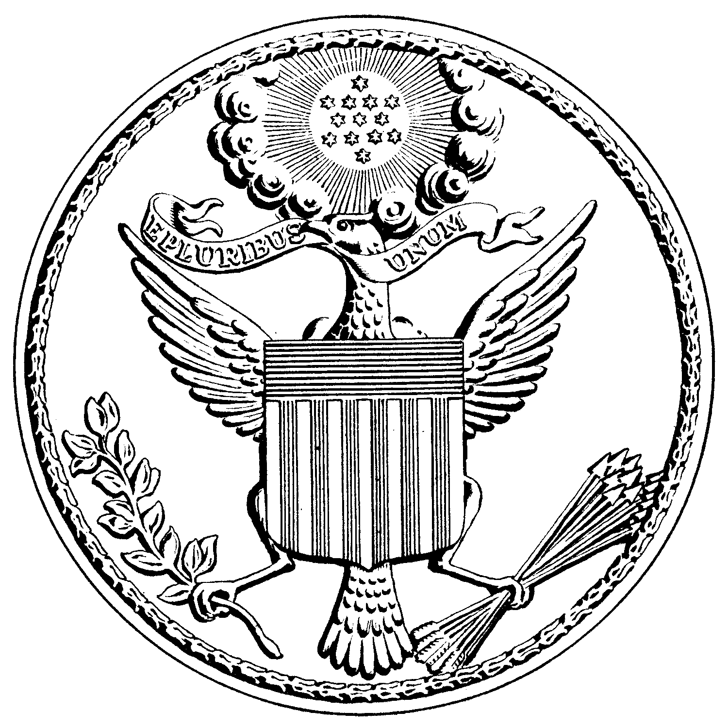 American drawing. Image us great seal