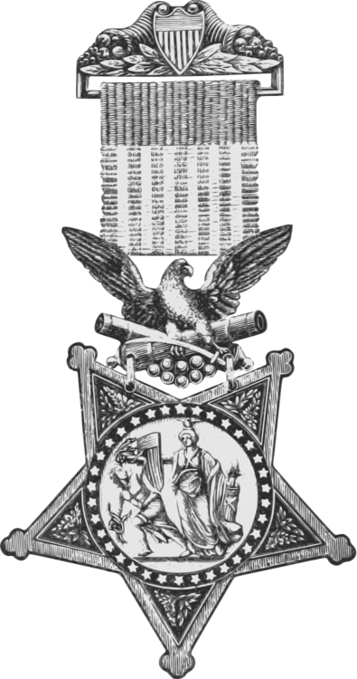 Medal drawing honor. Of m csf bravery