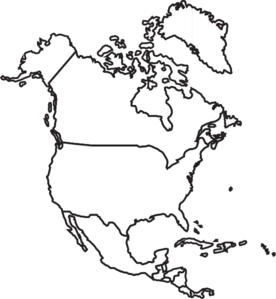 American drawing clipart. North america map clip