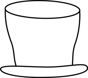 American drawing top hat. White clip art at