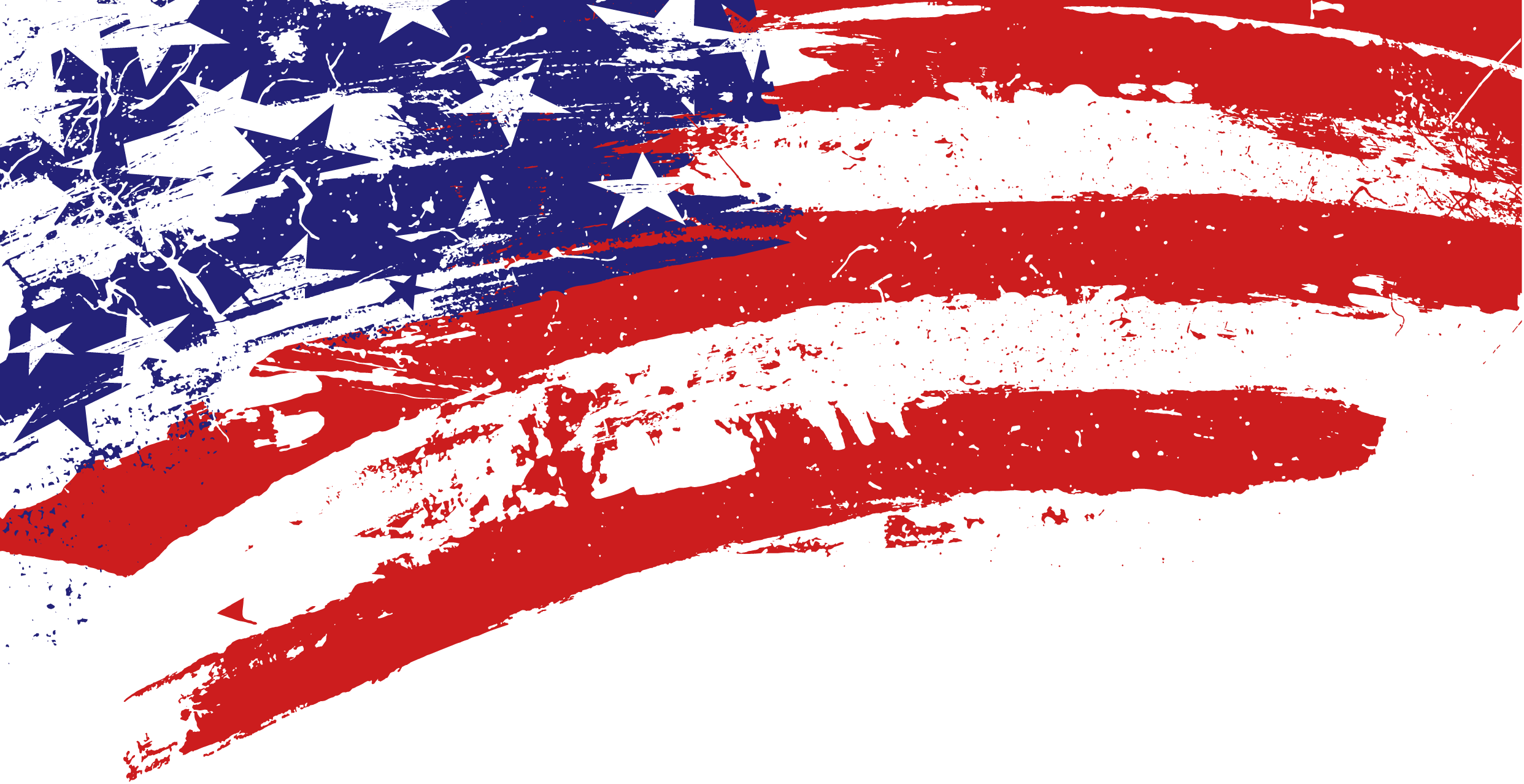 Us flag banner photos. Red grunge png svg freeuse library