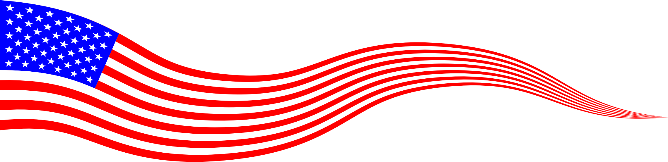 American flag banner png. Wavy usa by gdj
