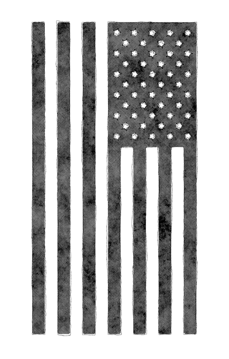 Distressed svg metal. Grunge style american flag