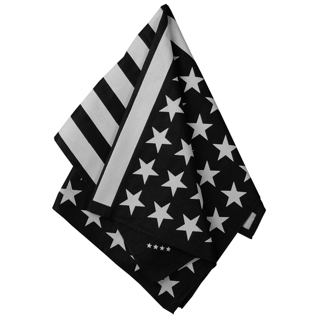 American flag black and white png. Bandana off try this
