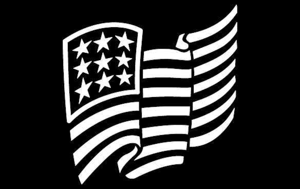American flag black and white png.