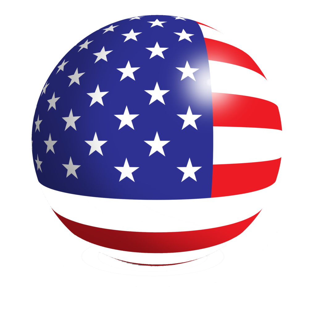 American flag circle png. Icon us vector free