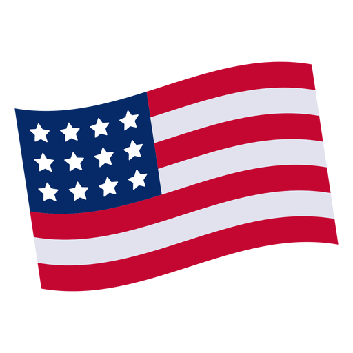 American flag design png. Element transparent svg vector