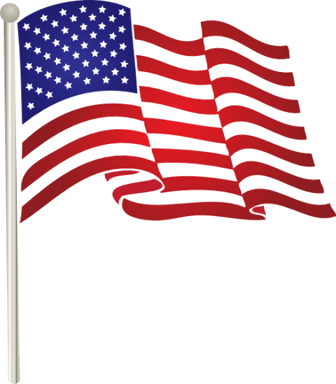 American flag on pole png. Free images toppng transparent