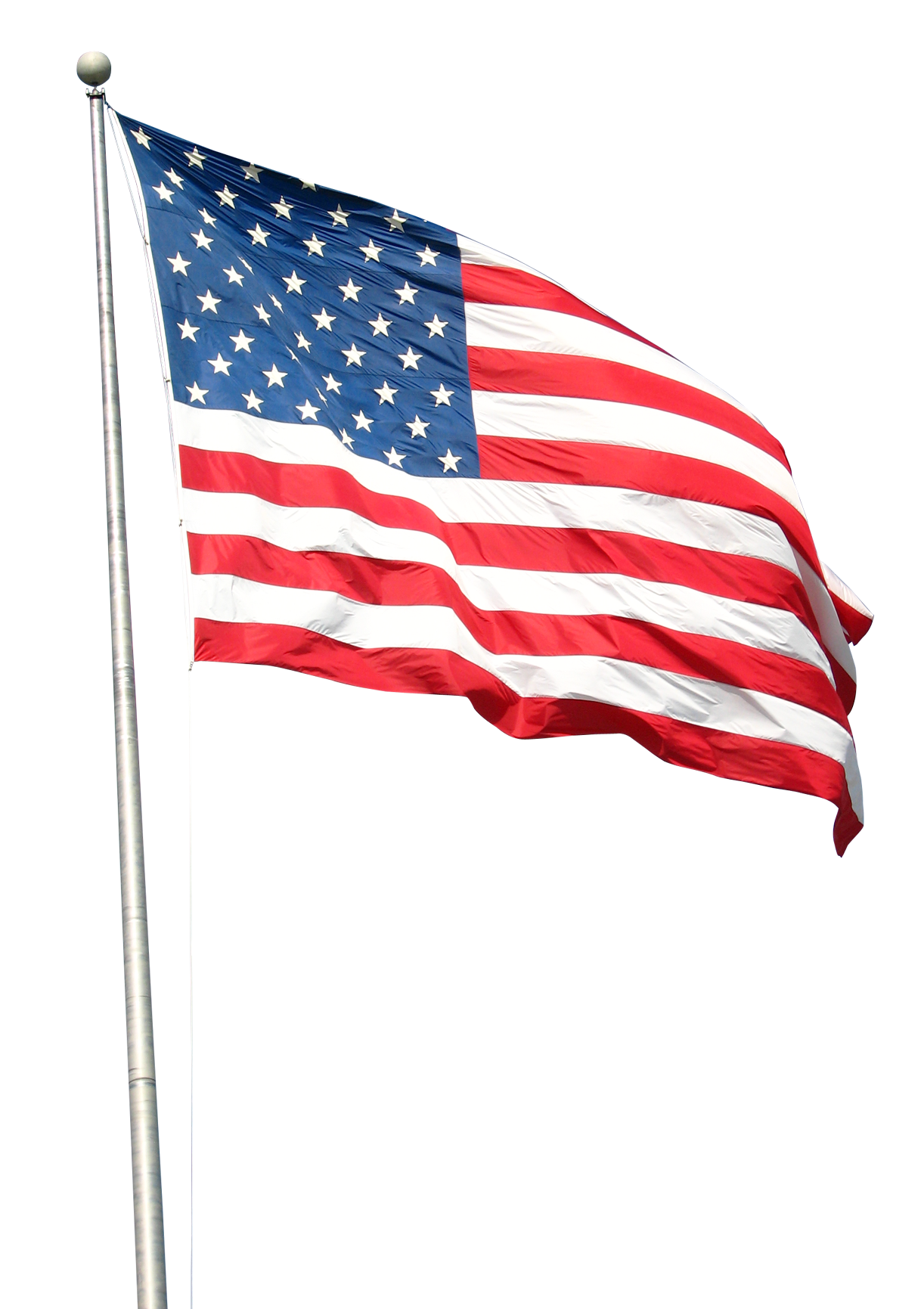 American flag on pole png. Pngpix com transparent image