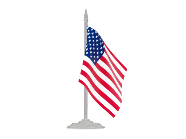 American flag pole png. With flagpole illustration of