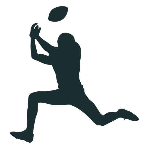 American football player silhouette png. Catching transparent svg