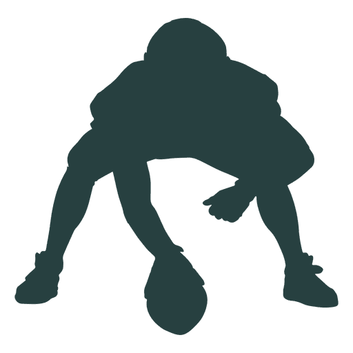 American football player silhouette png. Center transparent svg